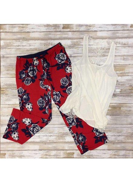 PJ Floral Navy/Red Pant