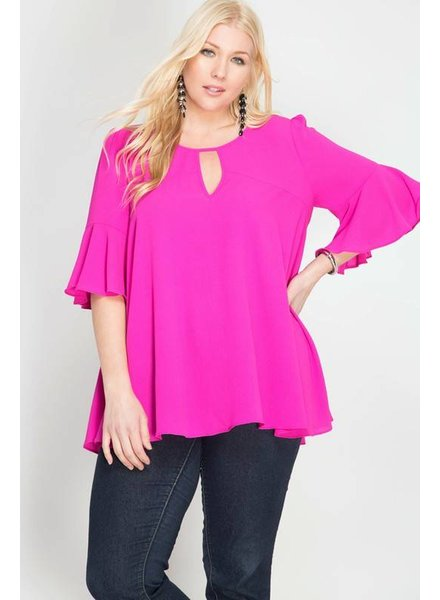 NAN Keyhole Top Pink