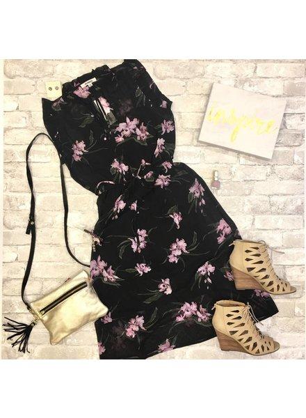 BB Dakota Floral Dress Black