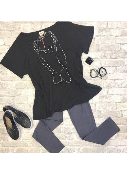 NAN Shirt Black Criss Cross
