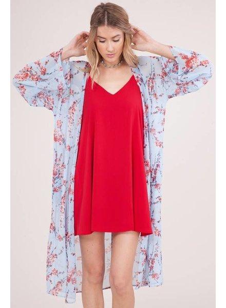 Peach Love Kimono Blue