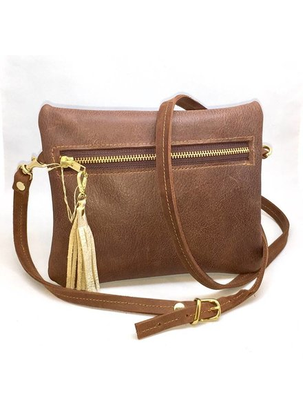 Farmhouse Clutch Small Leather Bag Brown