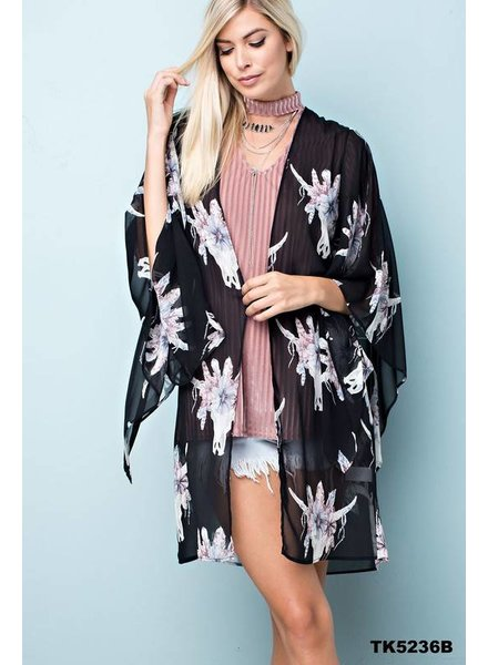 143 Bullhead Kimono Black