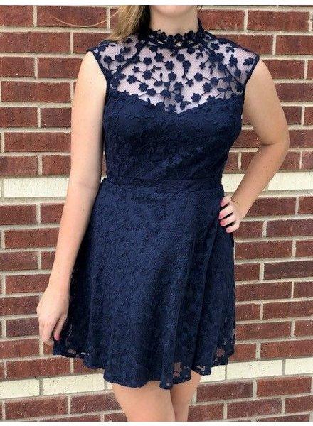 BB Dakota Becky Navy Dress