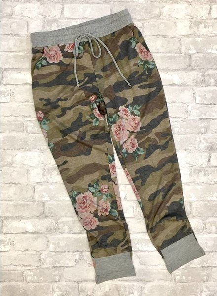First Love Camo/Floral Jogger Pant