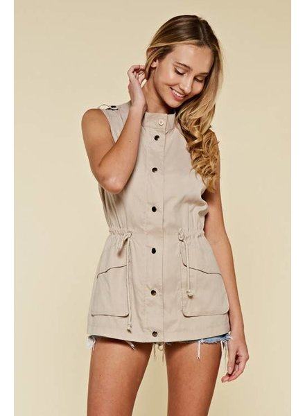 First Love Taupe Vest