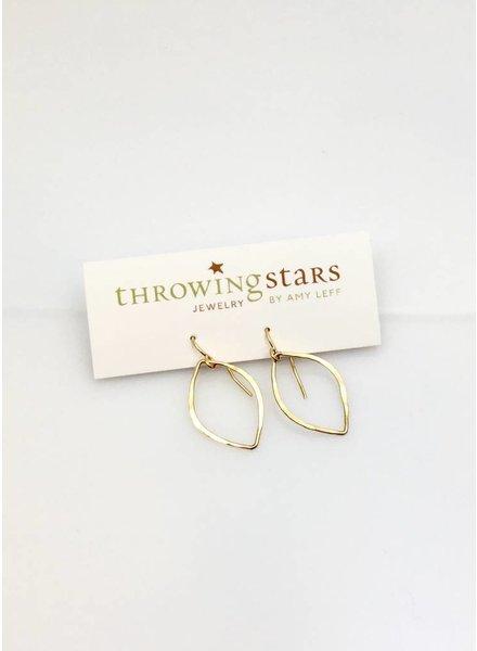 Stars Tear Drop Earrings
