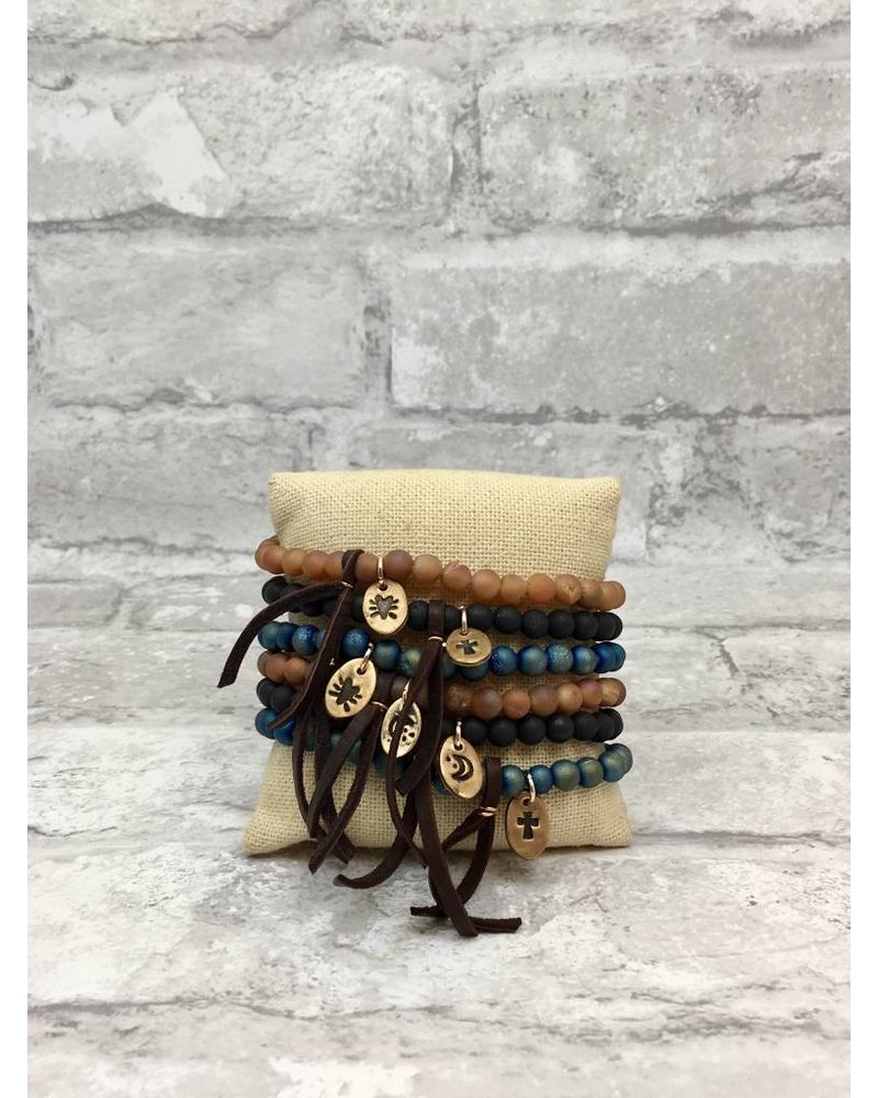 CHICK Beaded Bracelets with small charm