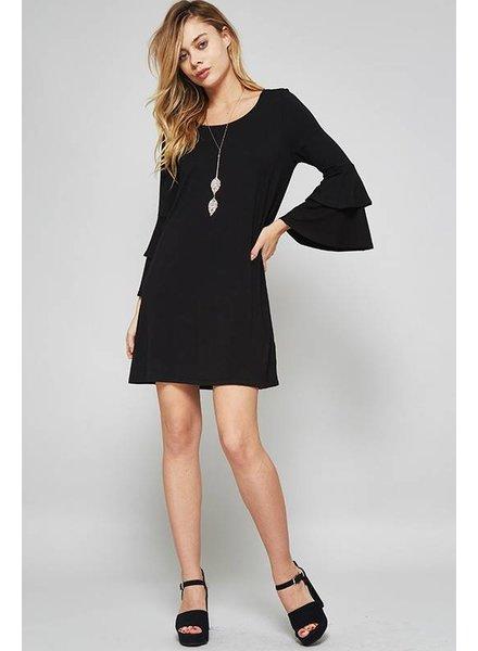 Promesa Black Dress Cupro