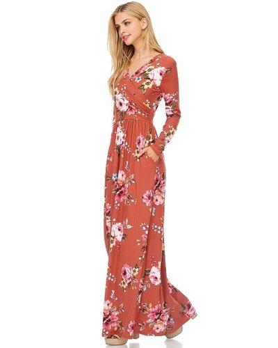Reborn J Maxi Dress Mauve