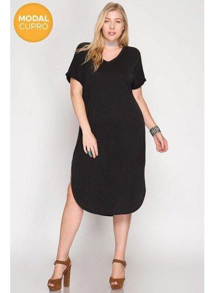 NAN She/Sky Modal Dress Black