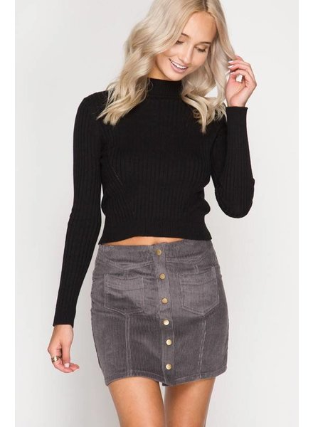 She/Sky Corduroy Skirt