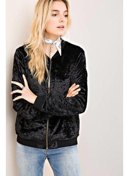 Entro Black Velvet Jacket
