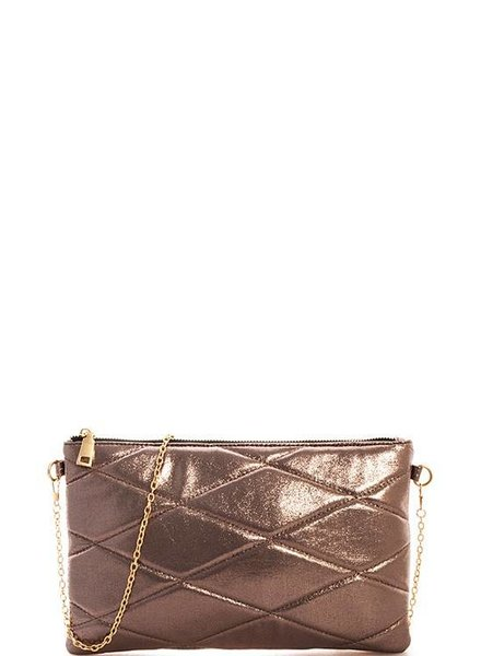 Pewter Faux Leather Bag