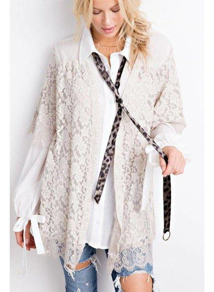 Cream Lace Kimono