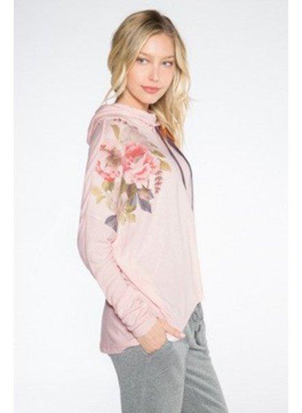 PJ Salvage Blush Floral Hoodie