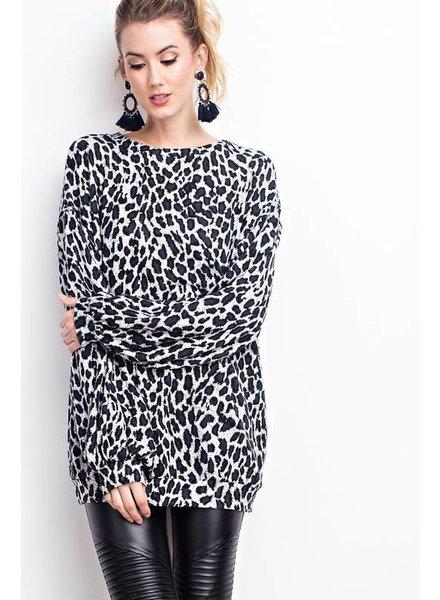 Easel Leopard Tunic