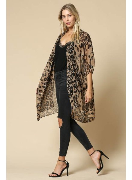 By Together Leopard Kimono