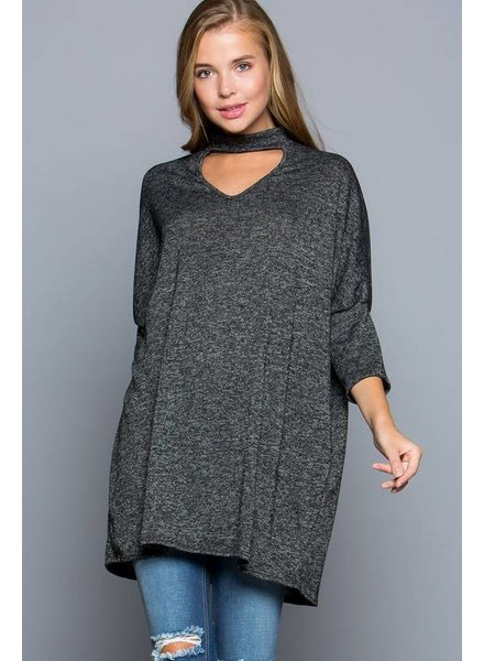 Eesome Choker Sweater Charcoal