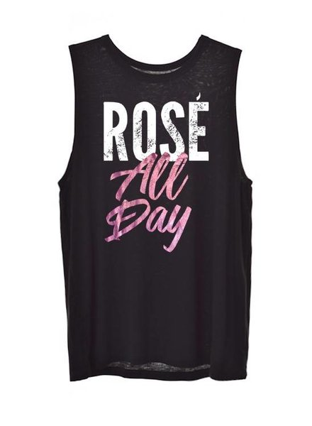 Zutter Graphic Tank Rose All Day Black