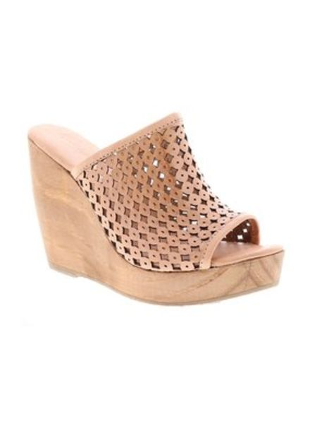 Very Volatile Laser Cut Wedge Tan