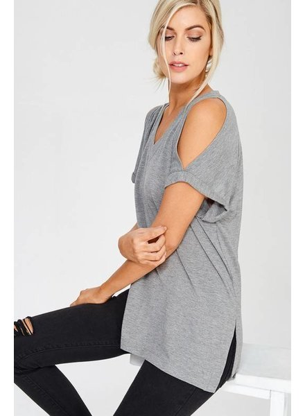 Wishlist Cold Shoulder V Neck Top