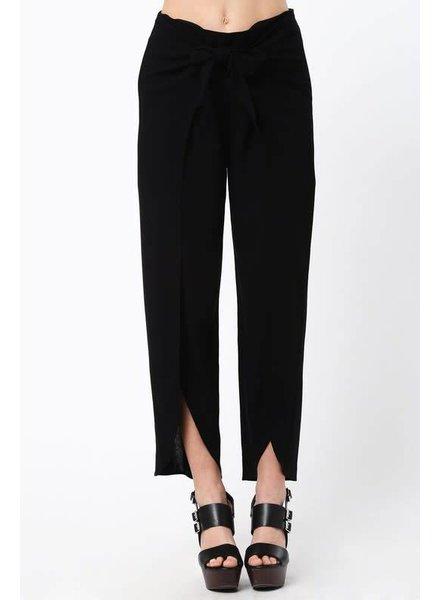 Very J Tie Up Front Pant Black