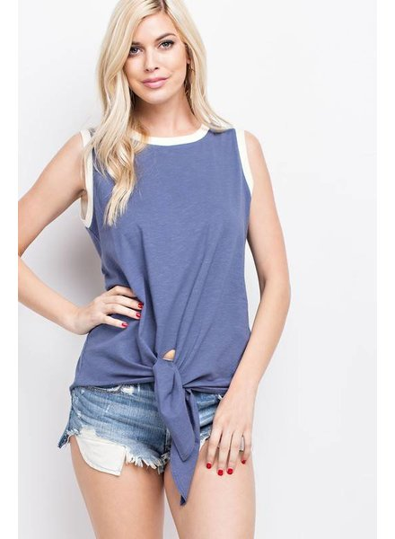 143 Tie Tank Top Grey