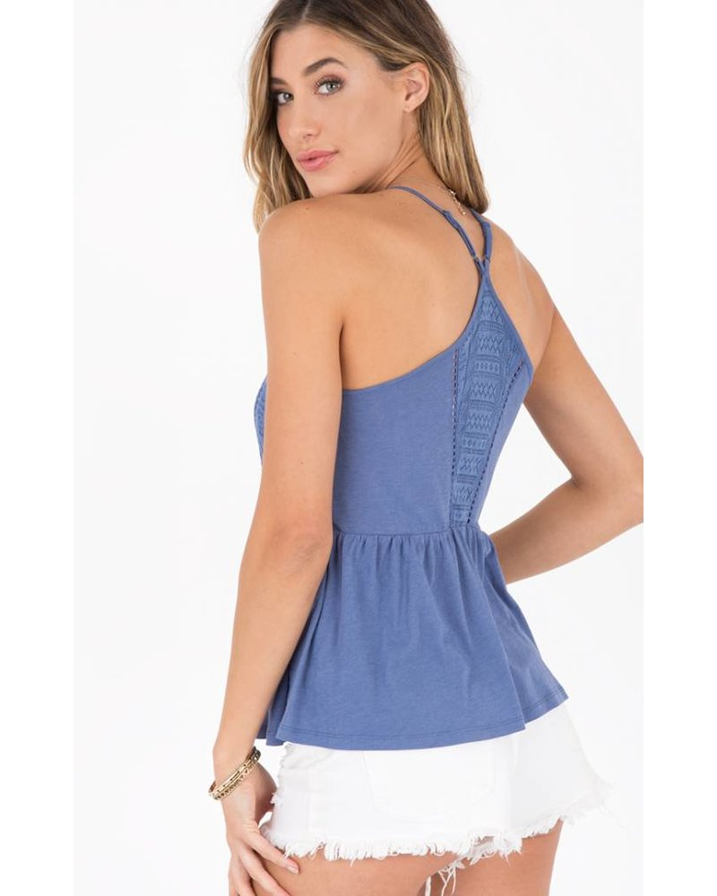 Others Follow Baby Doll Tank Blue
