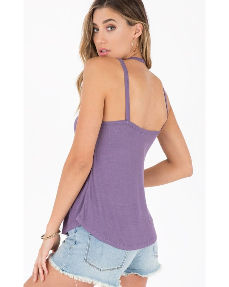 Others Follow Strappy Tank Purple