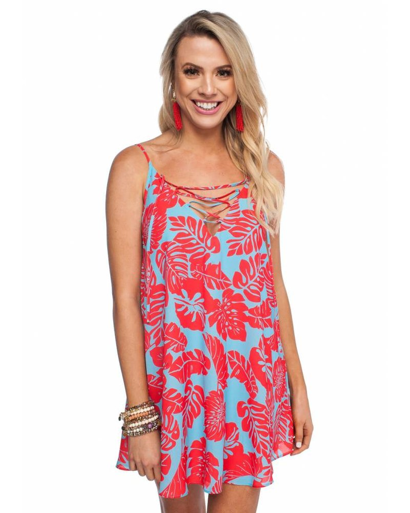 Buddy Love Floral Dress Red/Blue