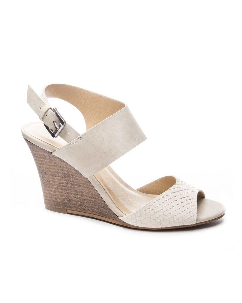 Chinese Laundry CL Snake Nubuck Beige Shoe