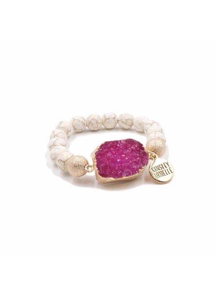Kinsley Armelle Pink Agate Bracelet
