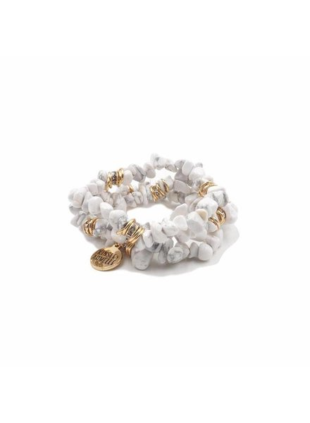 Kinsley Armelle White Chip Bracelet Set