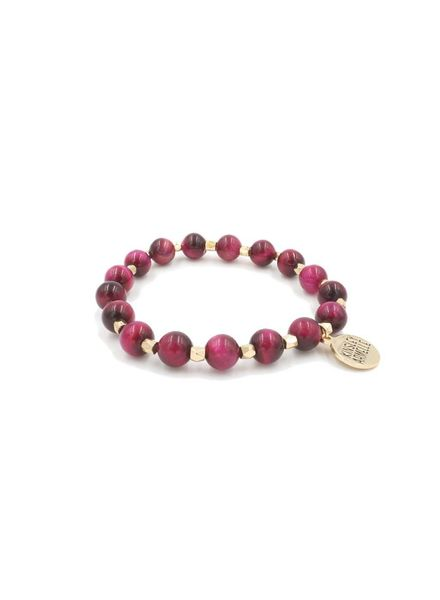 Kinsley Armelle Pink Beaded Bracelet