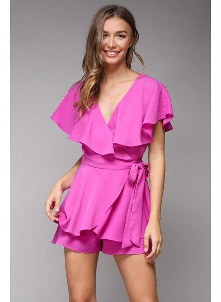 Do + Be Wrap Romper Orchid