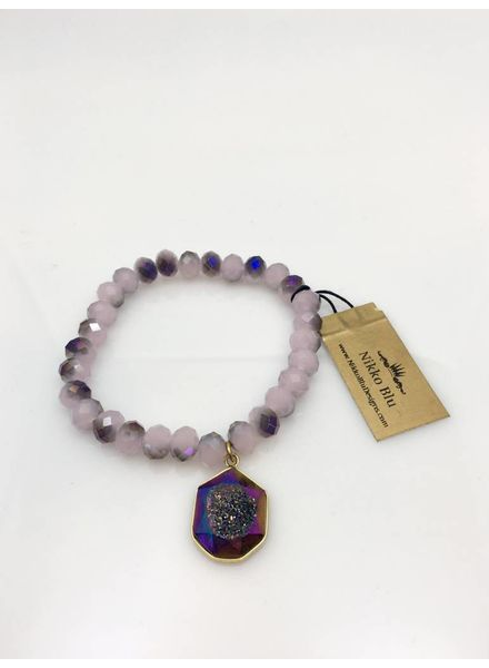Nikko Blu Bracelet with Dangle Purple
