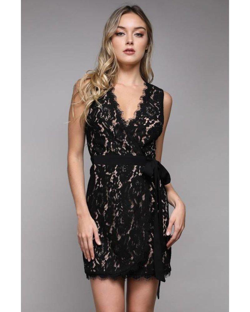DO + BE Lace Dress Black