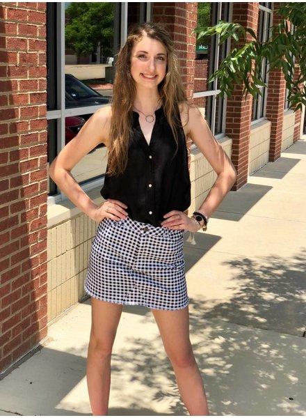 RD Skirt Black Check