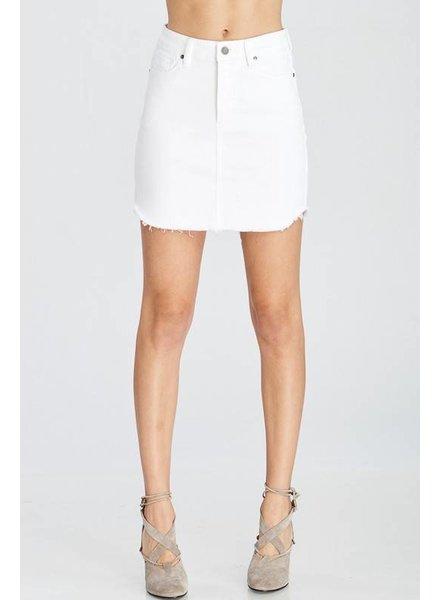 Wishlist Denim Skirt White