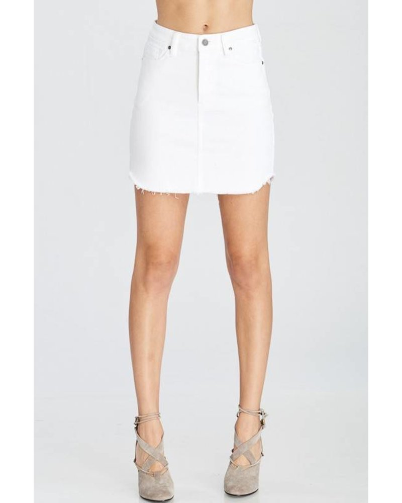 Wishlist Denim Skirt White