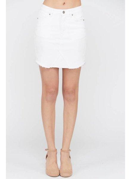Wishlist Denim Skirt White Straight