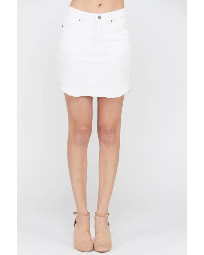 Wishlist Denim Skirt White Straight