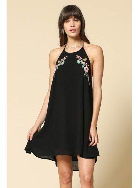 By Together By Together Emb Halter Dress Black