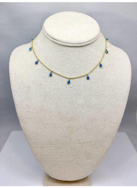 Nikko Blu CHELSEA Blue Opal Mini Choker