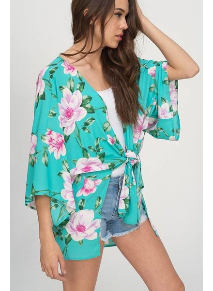 Hyped Unicorn Hyped Floral Kimono Mint
