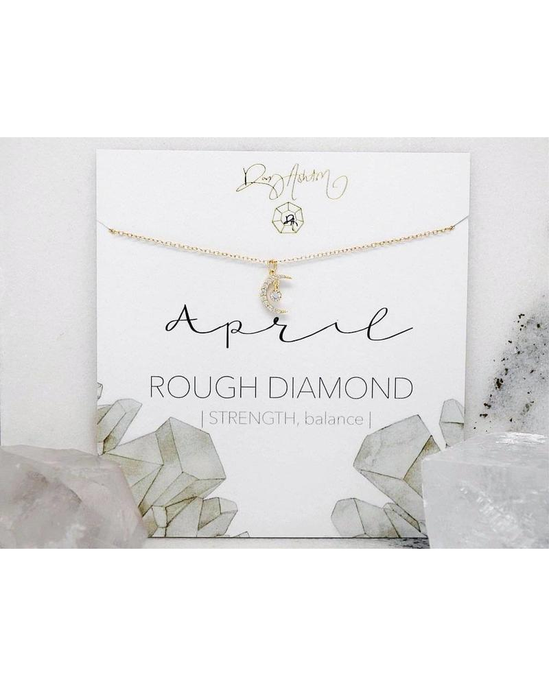 Rory Ashton Rory Ashton Birthstone Crescent Necklace