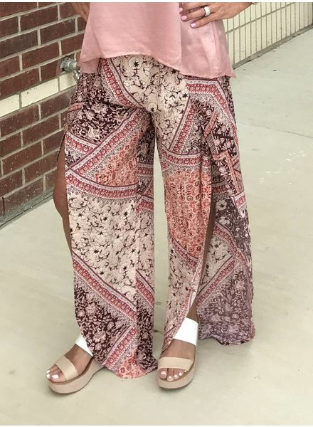 Libby Story Libby Story Printed Pant Pink