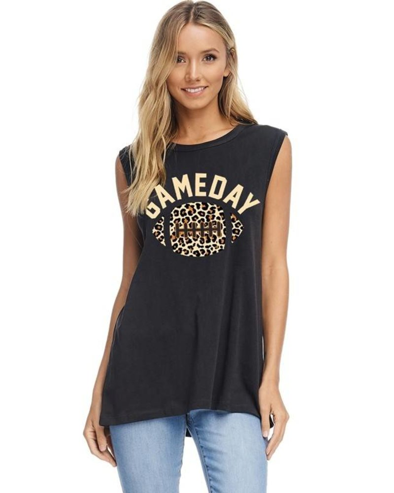 Zutter Graphic Tank Game Day Black