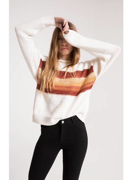 Others Follow Others Follow Pristine Striped Sweater Cream